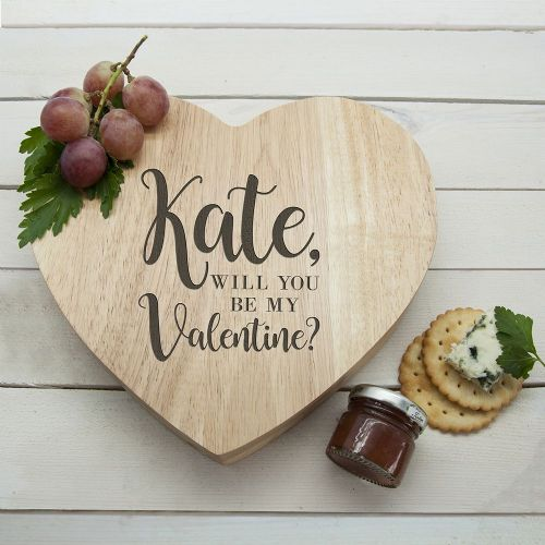 Personalised  Be My Valentine Heart Cheese Board